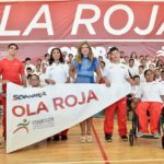 Abandera Gobernadora a la Ola Roja de Paralimpiada Nacional 2018