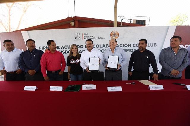 Promueven SEC y Naranjeros de Hermosillo deporte en estudiantes*