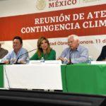 Atienden Estado y Federación contingencia climática en el sur de Sonora
