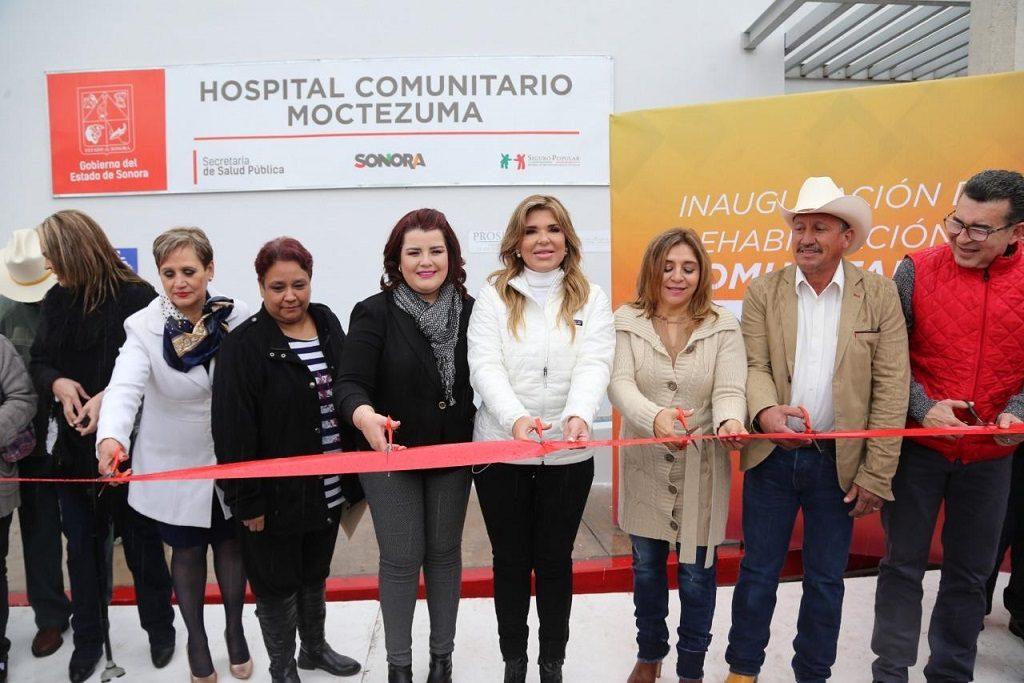 Entrega Gobernadora moderno hospital en Moctezuma  y apoyos por heladas y nevadas