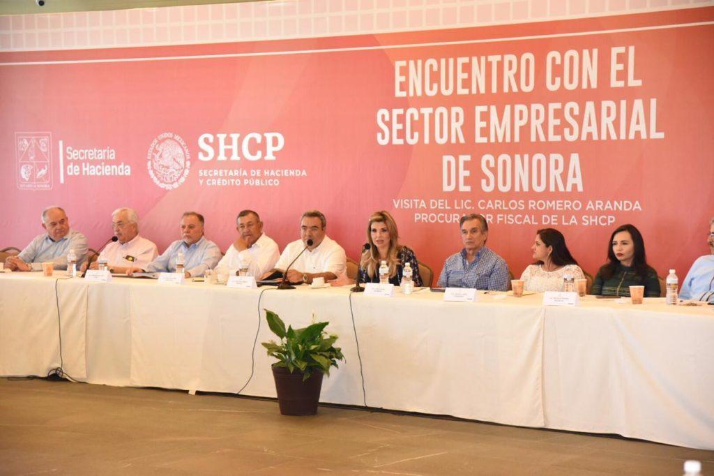 Promueven Gobernadora y Procurador Fiscal estímulos para los empresarios sonorenses