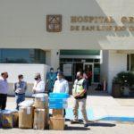 Entrega Alcalde equipo de protección al Hospital General
