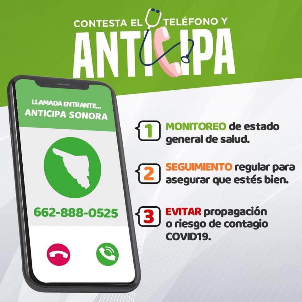 """Da resultados estrategia """"Anticipa"""" de Salud Sonora al detectar a tiempo más casos Covid-19"""