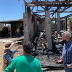 Brinda Desarrollo Social apoyo a familias que perdieron todo en incendio